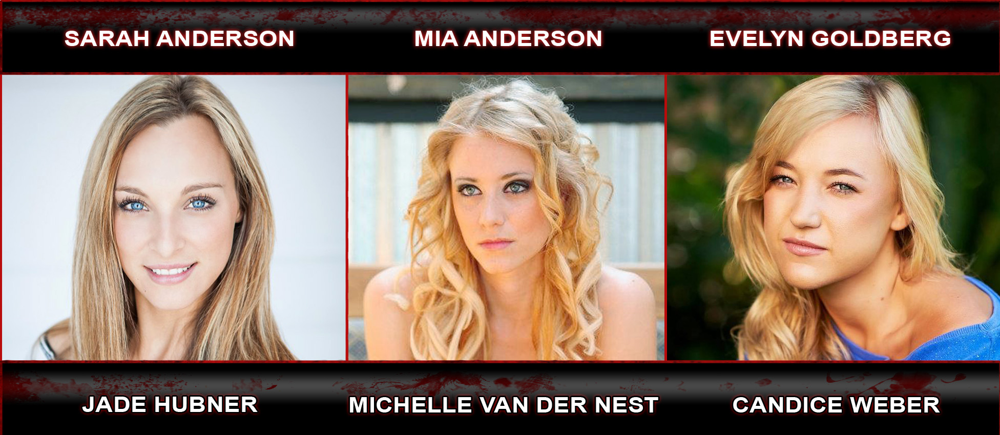 Jade Hubner as Sarah Anderson, Michelle Van Der Nest as Mia Anderson and Candice Weber as Evelyn Goldberg